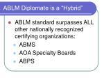 ablm diplomate is a hybrid1