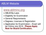 ablm website