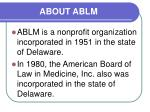 about ablm