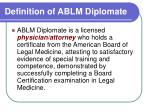 definition of ablm diplomate