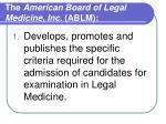 the american board of legal medicine inc ablm