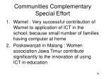 communities complementary special effort