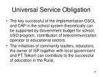 universal service obligation