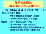 chemiosmotic hypothesis