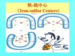 iron sulfur centers