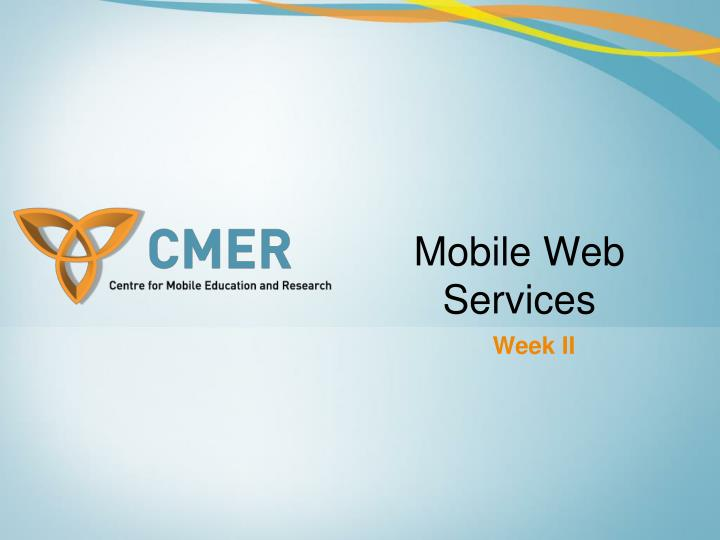 mobile web services n.