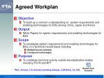 agreed workplan