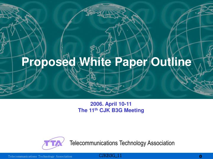 proposed white paper outline n.