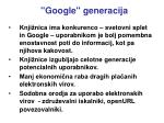 google generacija
