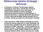 oblikovanje iskalne strategije definicije