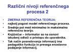 razli ni nivoji referen nega procesa 21