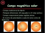 campo magn tico solar
