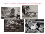 traditional preparation of acorns