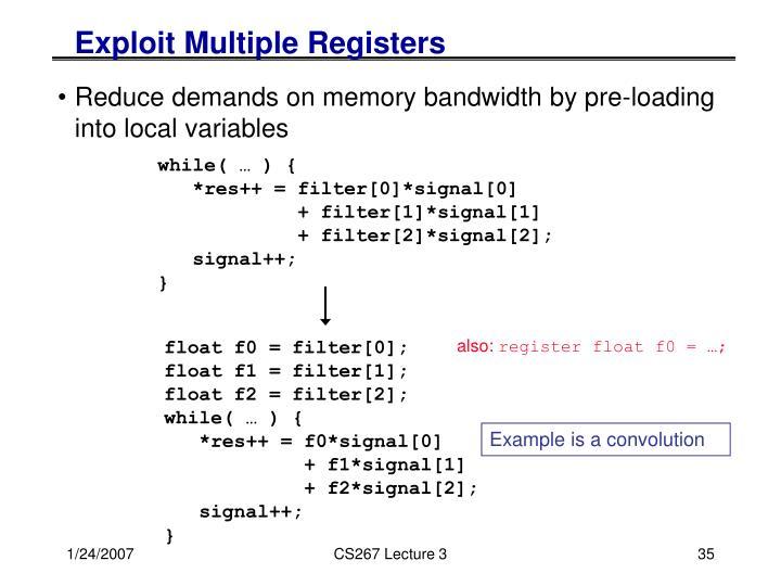 Exploit Multiple Registers