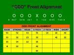 odd front alignment