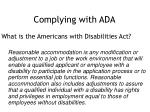 complying with ada