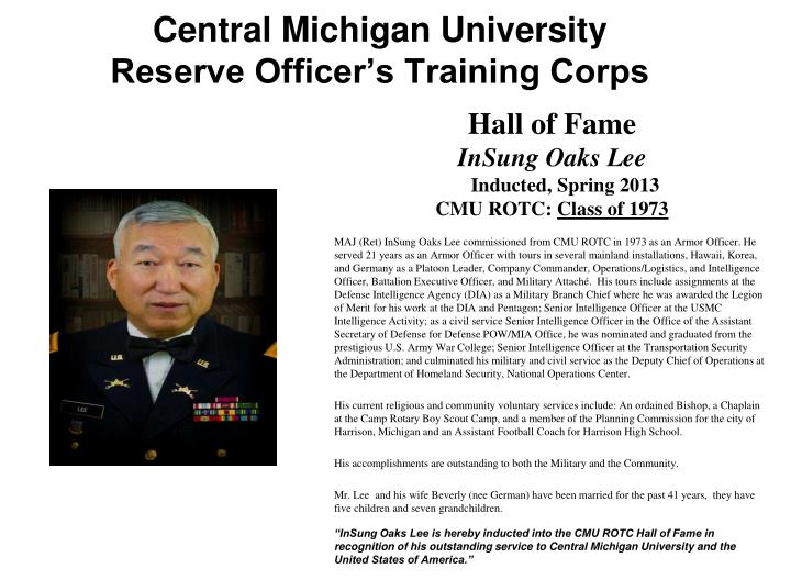 central michigan university reserve officer s training corps n.