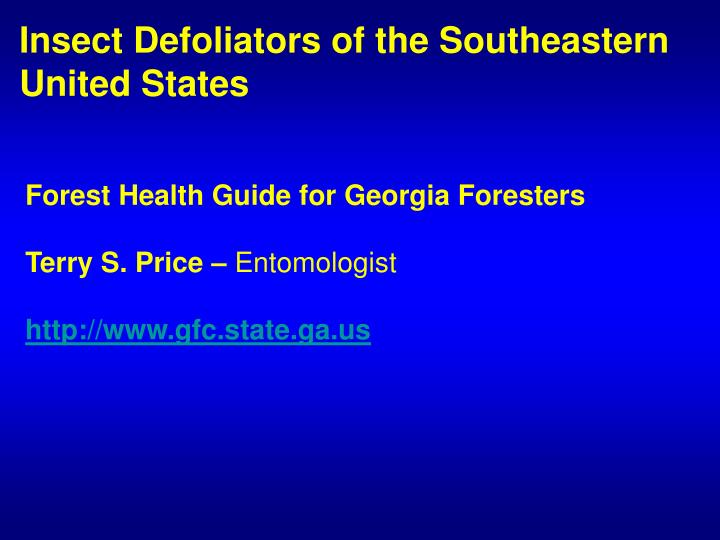 Insect Defoliators of the Southeastern