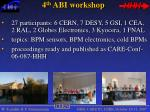 4 th abi workshop