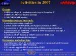 activities in 2007