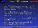 phased lhc upgrade