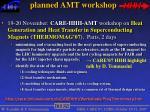 planned amt workshop