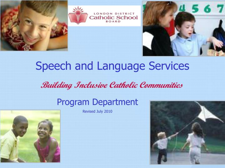 speech and language services n.