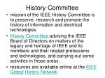 history committee