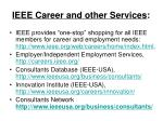 ieee career and other services