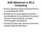 ieee milestones in ee computing