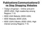 publications communications one stop shopping websites