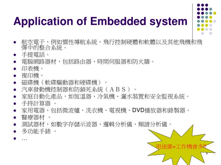 Application of Embedded system