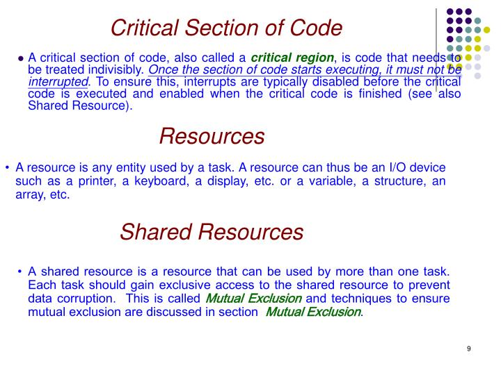 Critical Section of Code