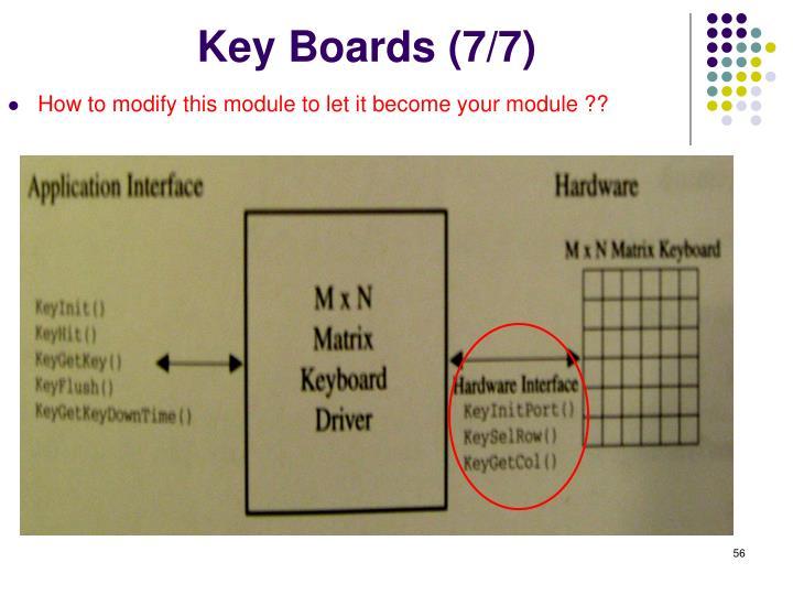 Key Boards (7/7)