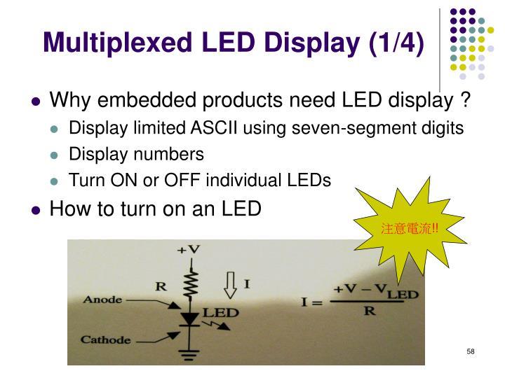 Multiplexed LED Display (1/4)