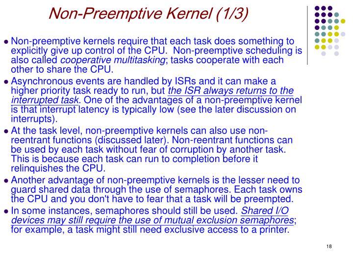 Non-Preemptive Kernel (1/3)