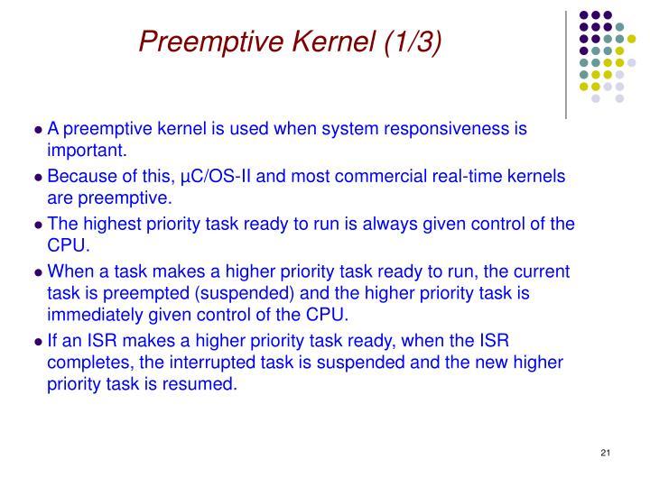 Preemptive Kernel (1/3)