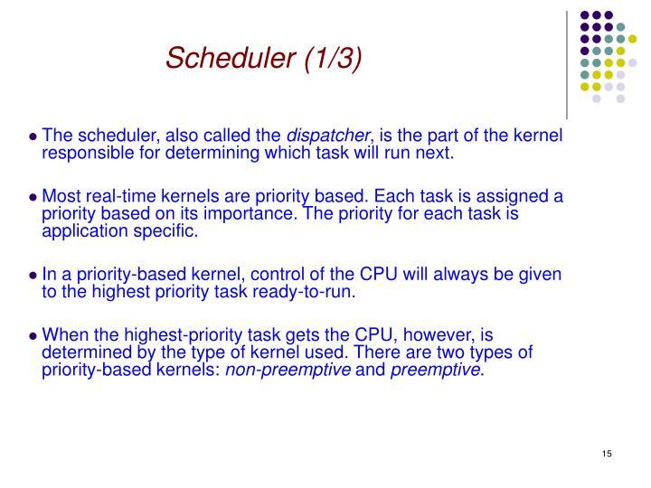 Scheduler (1/3)