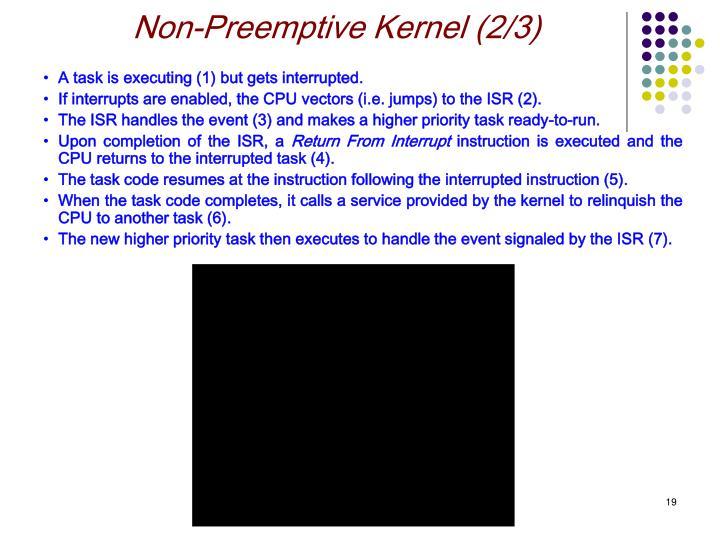 Non-Preemptive Kernel (2/3)