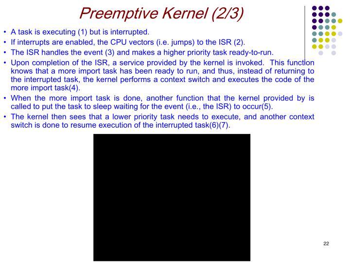 Preemptive Kernel (2/3)