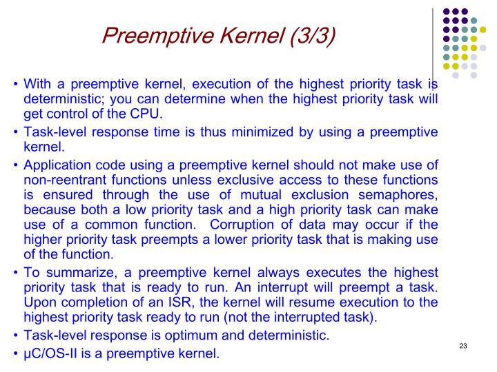 Preemptive Kernel (3/3)