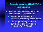 1 target identify what we re monitoring