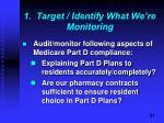 1 target identify what we re monitoring