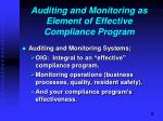 auditing and monitoring as element of effective compliance program