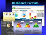 dashboard formats