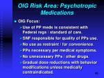 oig risk area psychotropic medications