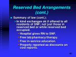 reserved bed arrangements cont1