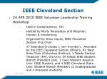 ieee cleveland section