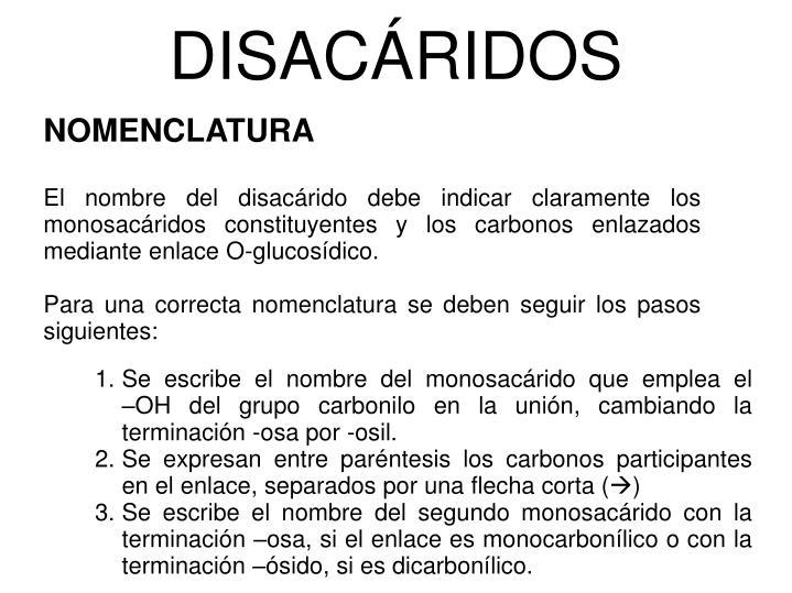 DISACÁRIDOS