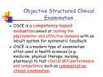 objective structured clinical examination